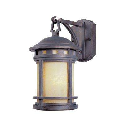 Sedona Mediterranean Patina Outdoor Wall-Mount Lantern Sconce
