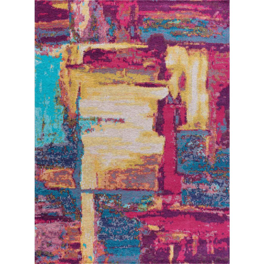 Tayse Rugs Dynasty Pink And Aqua 5 Ft X 7 Contemporary Area Rug
