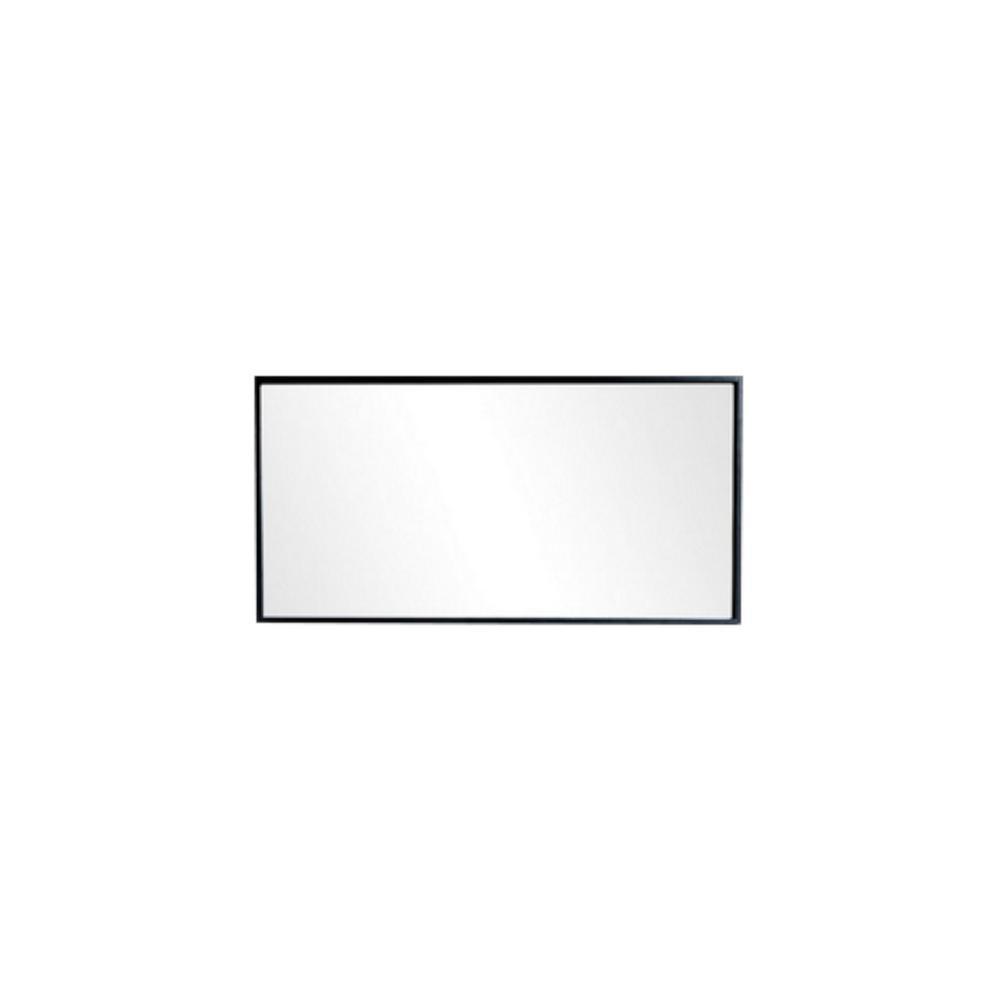 Moreno Bath Bliss 5375 In X 275 In Framed Single Wall Mirror With Shelf In Dark Gray Oak