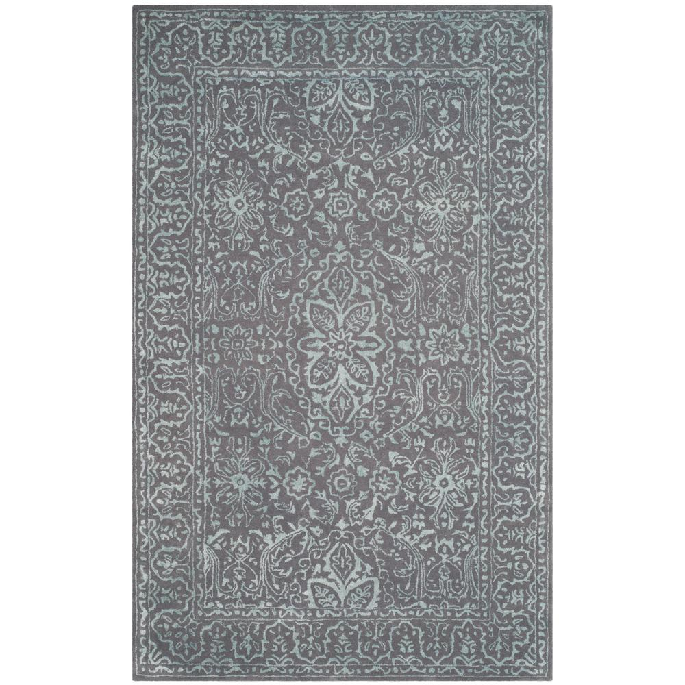 Glamour Opal/Gray 4 ft. x 6 ft. Area Rug