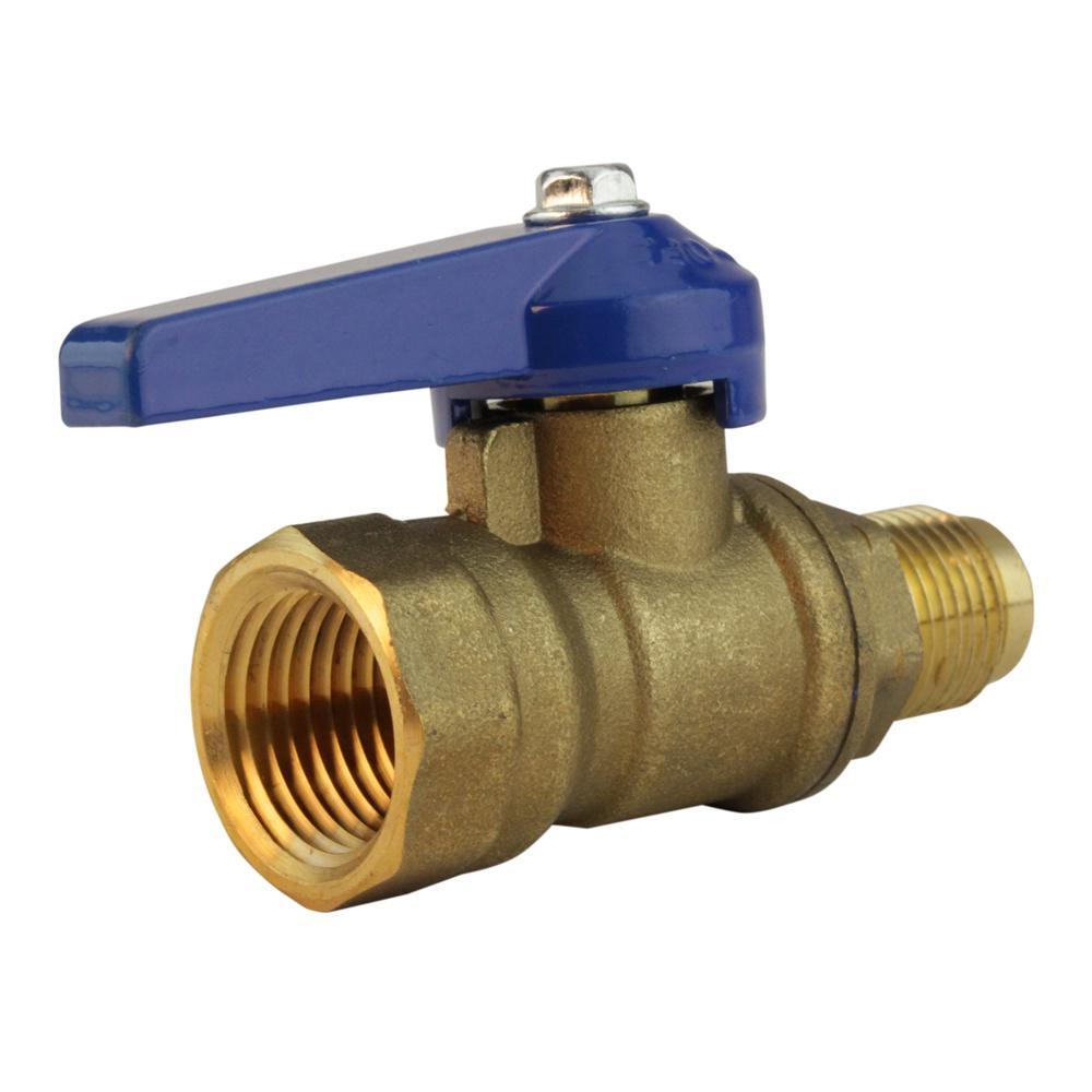 Lead-Free Brass Flare Shutoff Cock 3/8 in. Fl x 1/2 in. FIP