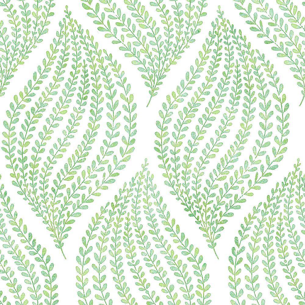 Arboretum Green Leaves Wallpaper