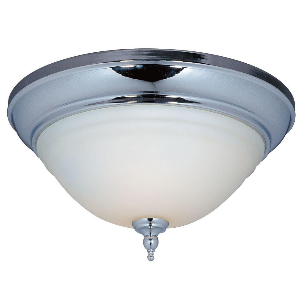 World Imports Montpellier Collection 2-Light Flush Mount Chrome Ceiling Light