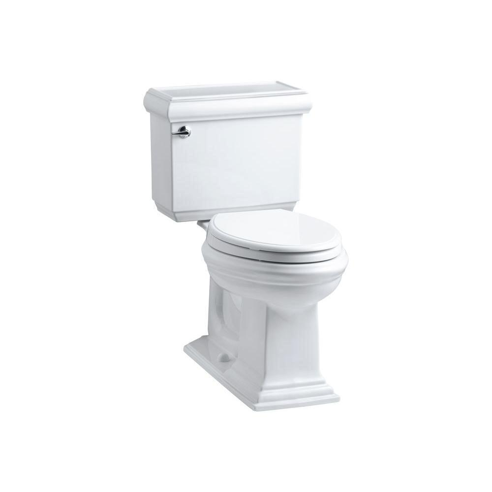 KOHLER Memoirs Classic 2-piece 1.6 GPF Single Flush Elongated Toilet with AquaPiston Flush Technology in White