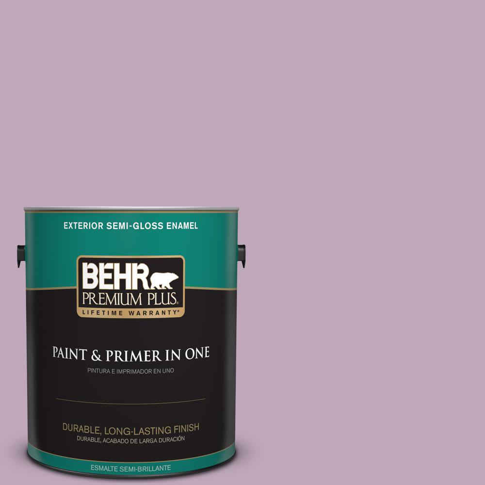 1-gal. #680F-4 Soft Heather Semi-Gloss Enamel Exterior Paint