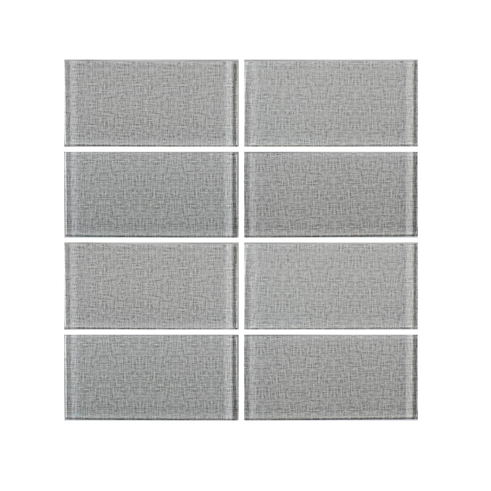Canvas Glass 3 in. x 6 in. Glass Wall Tile (8-Piece/1