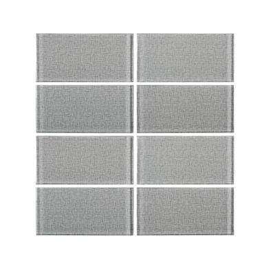 Canvas Glass Taupe 3 in. x 6 in. Glossy Glass Wall Tile (1 sq. ft. / pack)