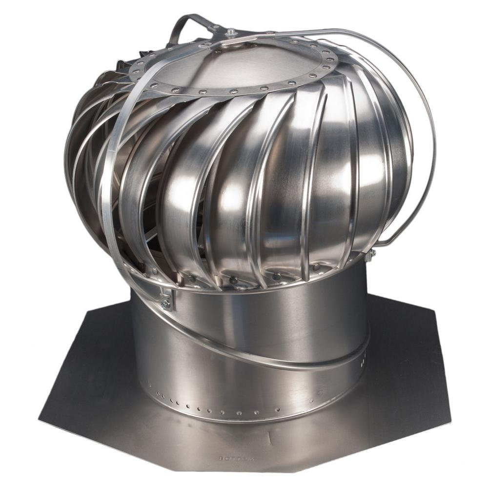 Turbine Roof Ventilators : Whirlybird in mill aluminum externally braced wind