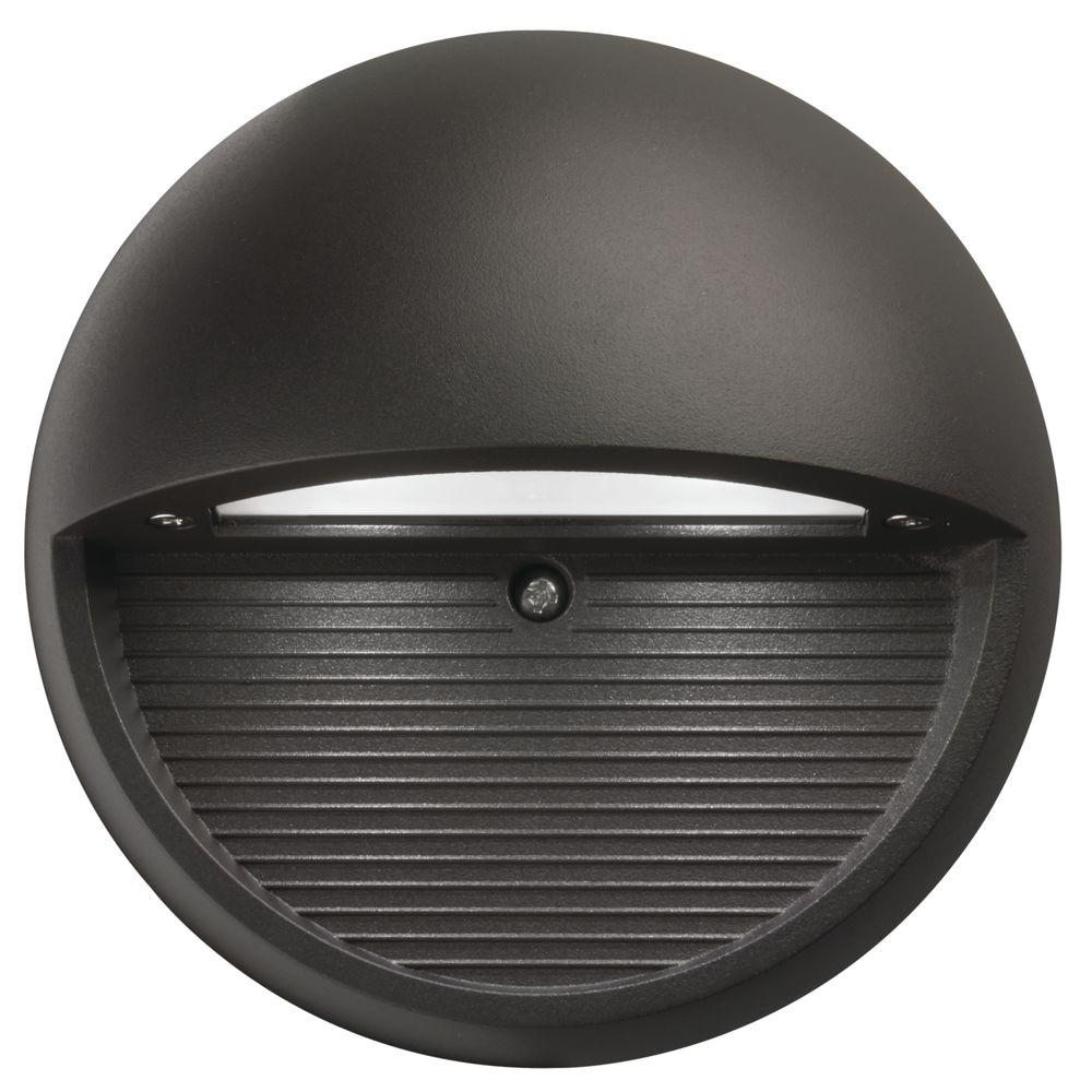 Lighting Basement Washroom Stairs: Lithonia Lighting Bronze Integrated LED Round Step And