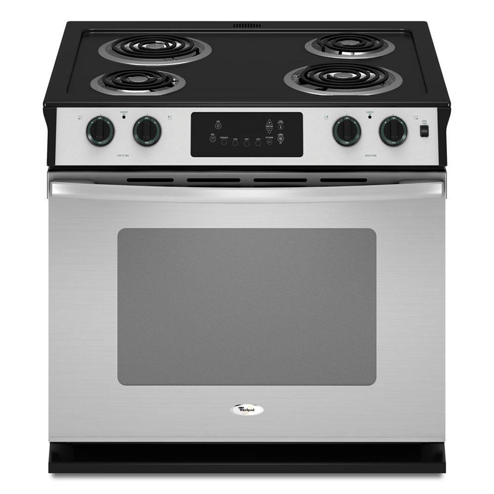 Whirlpool 4.5 cu. ft. Drop-In Electric Range with Self-Cleaning Oven in Stainless Steel