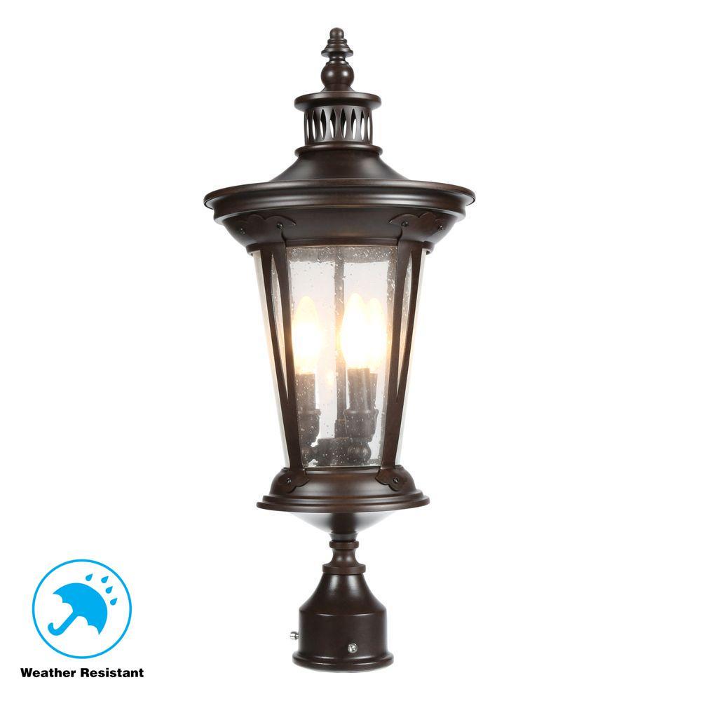 North Hampton 3-Light Outdoor Old Bronze Post Lantern