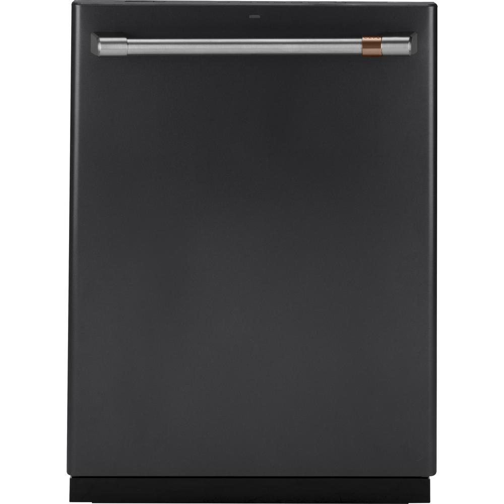 24 in. Smart Top Control Dishwasher in Matte Black with Stainless