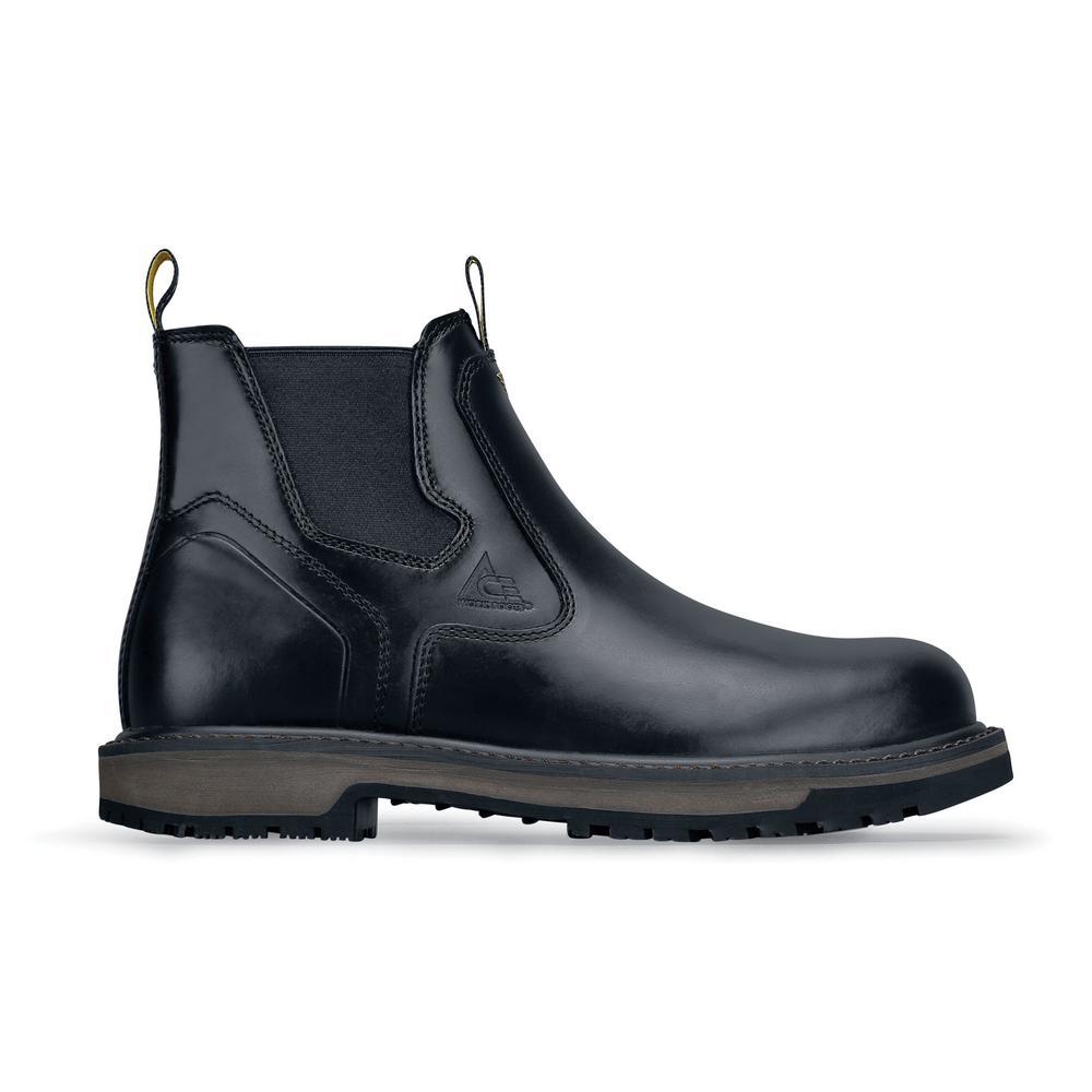 Firebrand Men's Size 10.5M Black Leather Slip-Resistant Work Boot