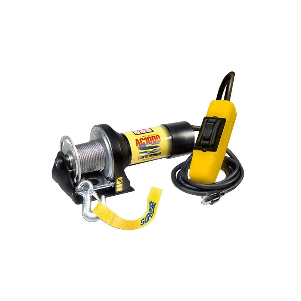 Superwinch AC1000 115-Volt AC Industrial Winch with Hand-Held Pendant Remote