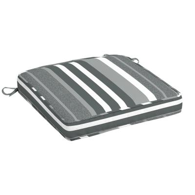 20 in. x 20 in. DriWeave Petersburg Stripe Welted Square Outdoor Seat Cushion (2-Pack)