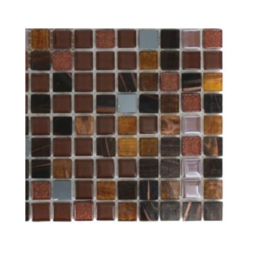 Capriccio Campobasso Glass Mosaic Floor and Wall Tile - 3 in.