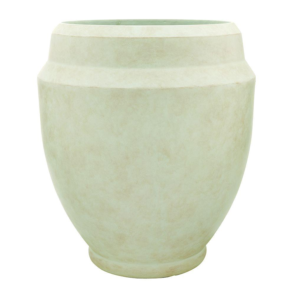 Southern Patio 22 in. x 23.62 in. Monroe Ceramix Planter