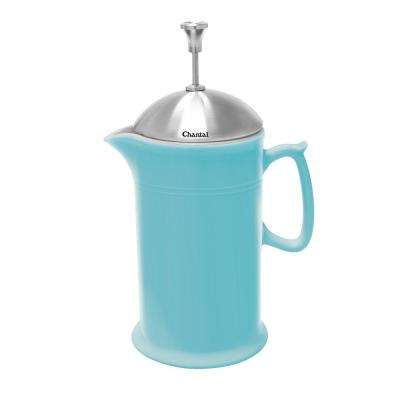 28 oz. Ceramic French Press in Aqua