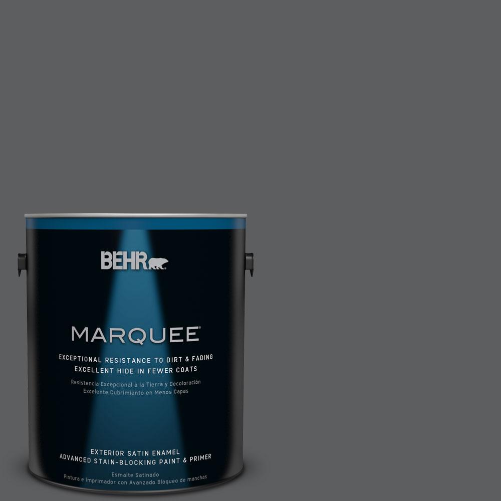 BEHR MARQUEE 1-gal. #N500-6 Graphic Charcoal Satin Enamel Exterior Paint