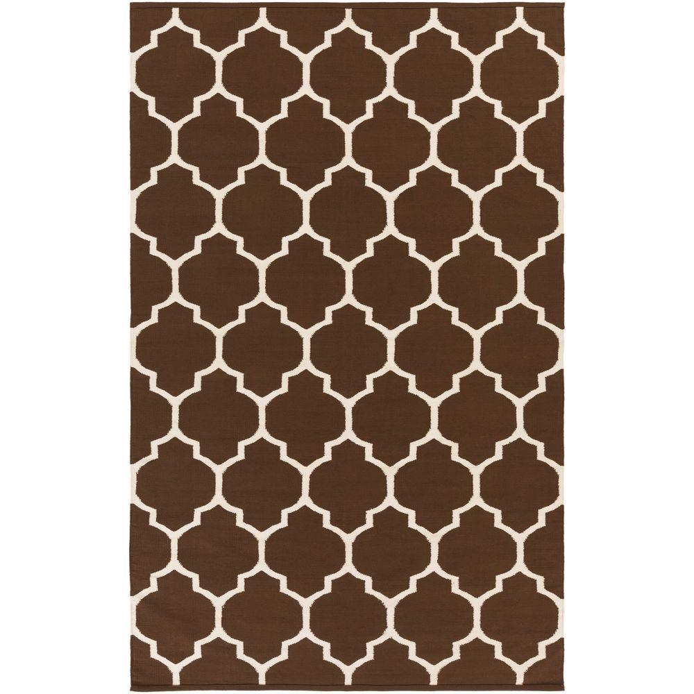 Vogue Claire Chocolate (Brown) 3 ft. x 5 ft. Indoor Area Rug