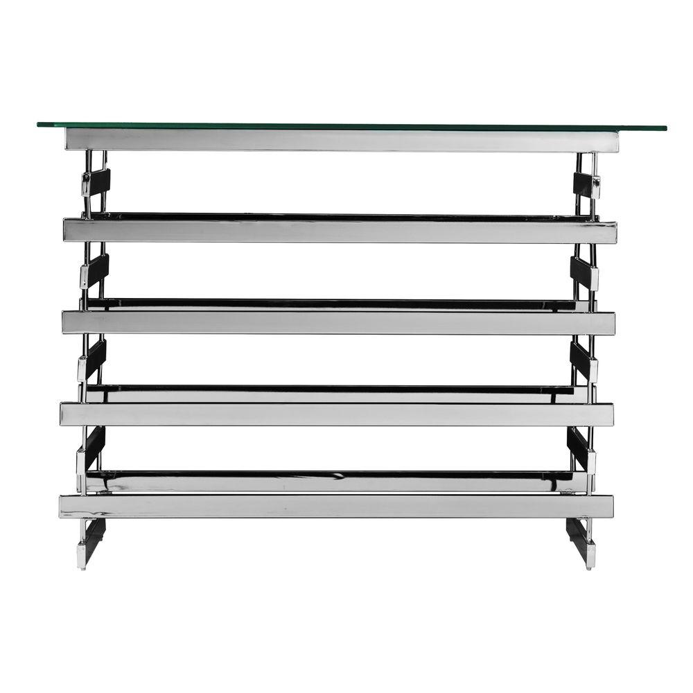 Southern Enterprises Germania Chrome Console Table