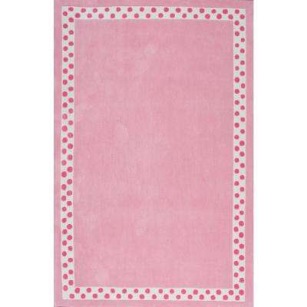 Hand Made Mauldin Pink 5 X Round Rug