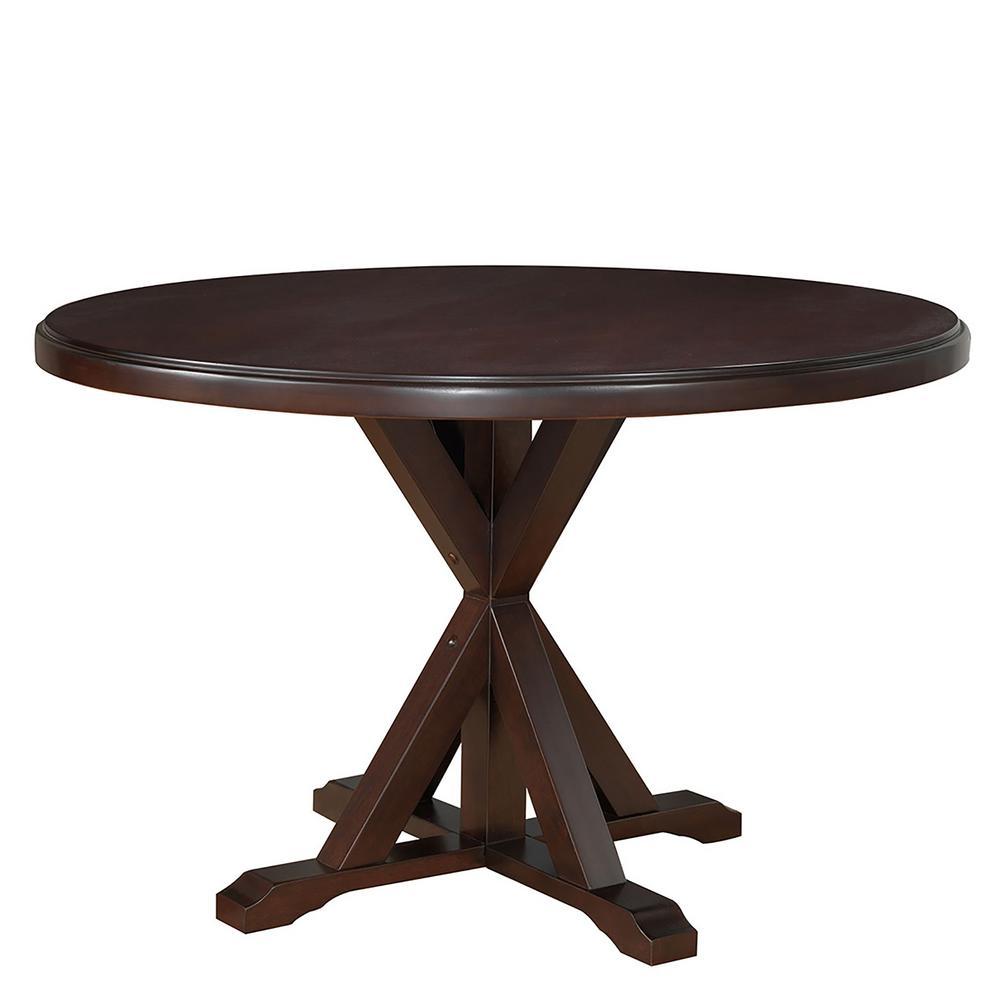 Carolina Classic Monet Espresso X Base Dining Table 4848 Esp The Home Depot
