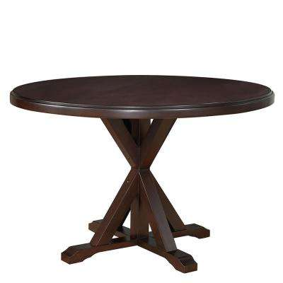 Monet Espresso X-Base Dining Table