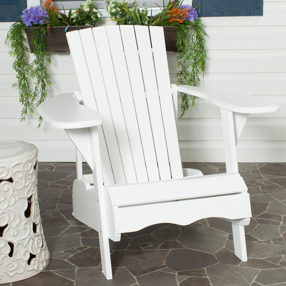 Safavieh Mopani All Weather Patio Lounge Chair In White 1 Piece