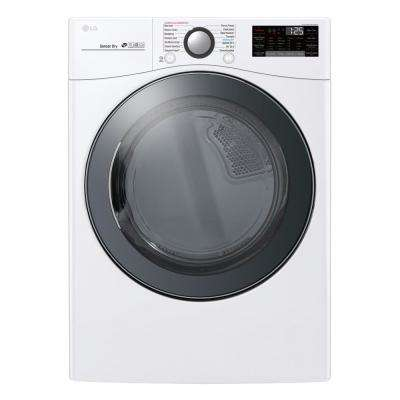 7.4 cu. ft. Ultra Large Smart Stackable Front Load Electric Dryer w/ TurboSteam, SensorDry, Pedestal Compatible in White