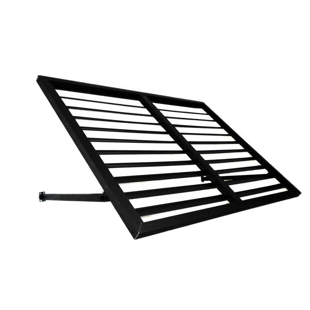 Beauty-Mark 3 ft. Bahama Metal Shutter Awning (24 in. H x 36 in. D) in Black