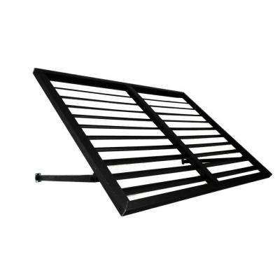 4 ft. Bahama Metal Shutter Awning (24 in. H x 36 in. D) in Black