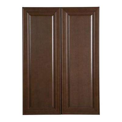 Benton Assembled 30x42x12 in. Wall Cabinet in Butterscotch