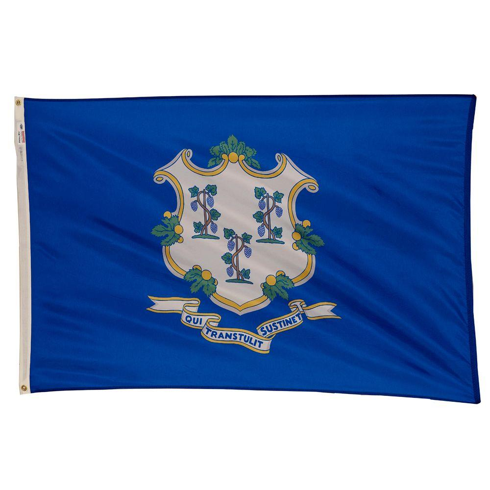 3 ft. x 5 ft. Nylon Connecticut State Flag