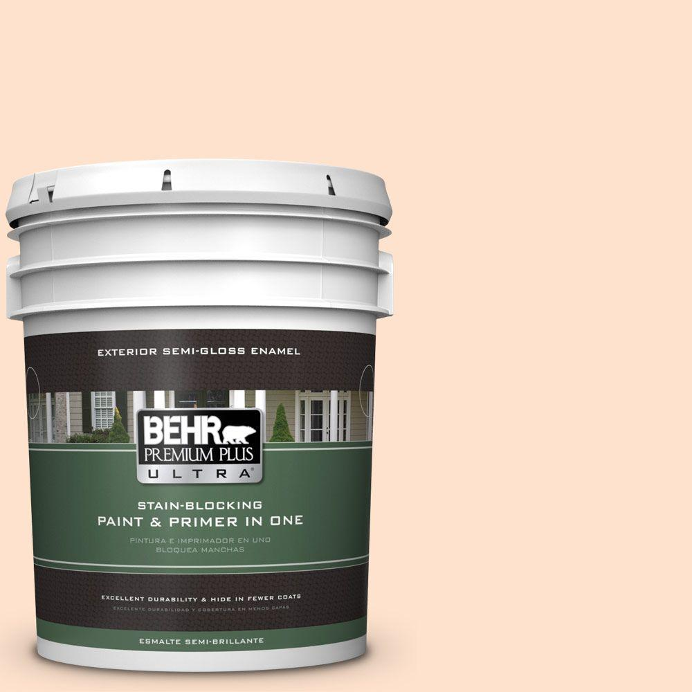 BEHR Premium Plus Ultra 5-gal. #P200-1 Melted Marshmallow Semi-Gloss Enamel Exterior Paint