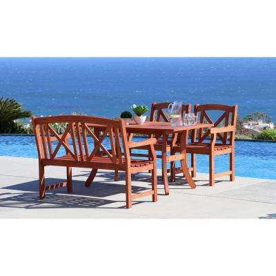 Malibu 4-Piece Rectangle Patio Dining Set