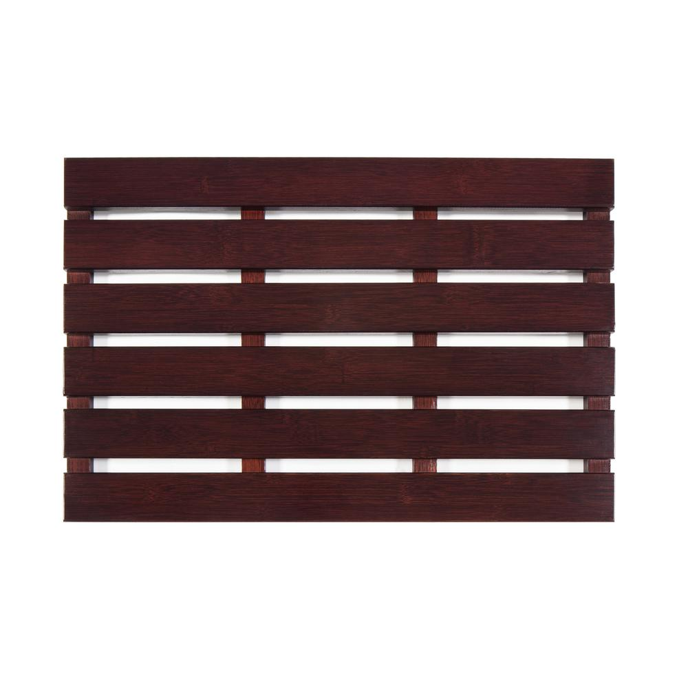 Cherry 16 in. x 24 in. Bamboo Bath & Sauna Mat