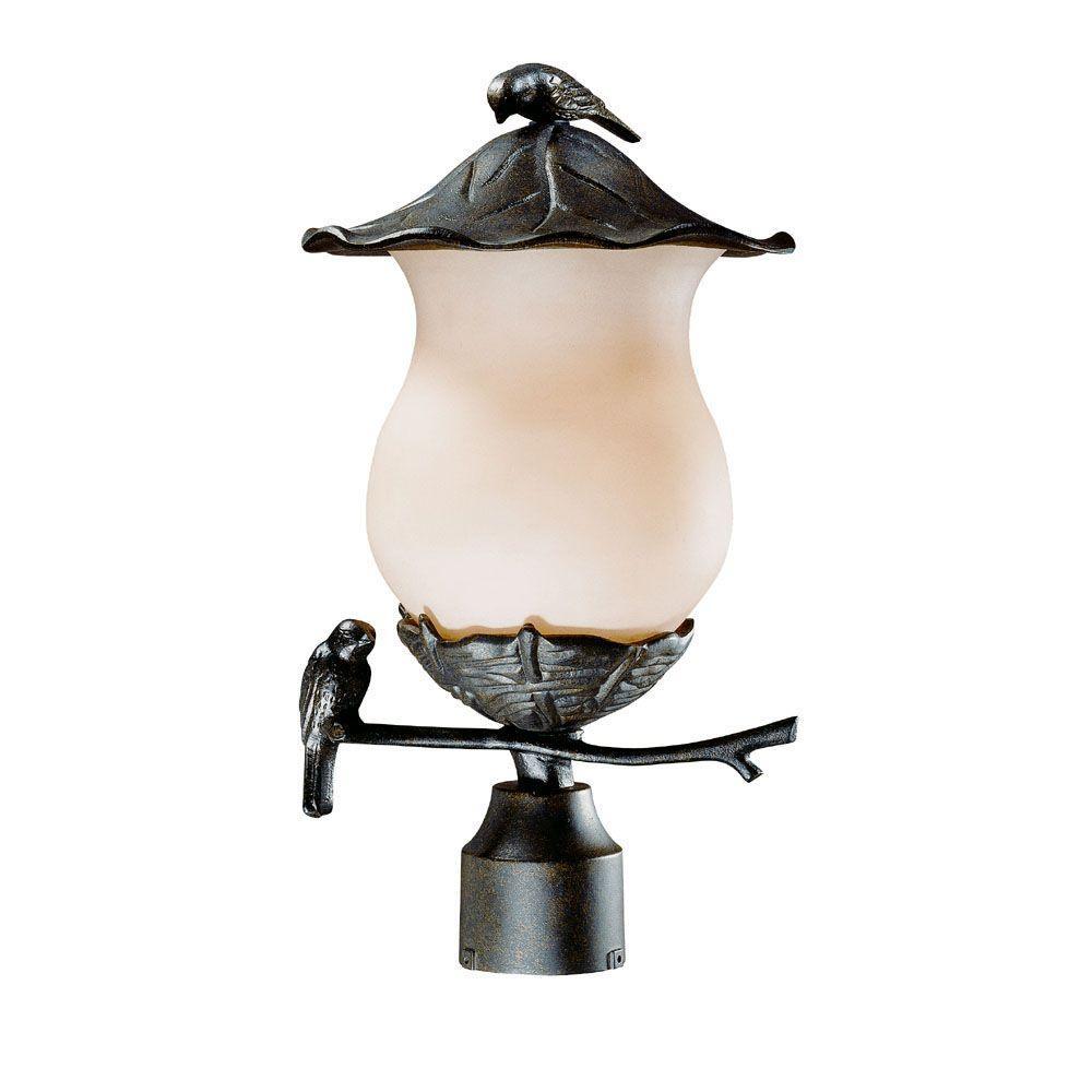 Acclaim Lighting Avian Collection 2-Light Outdoor Black Gold Post Light Fixture