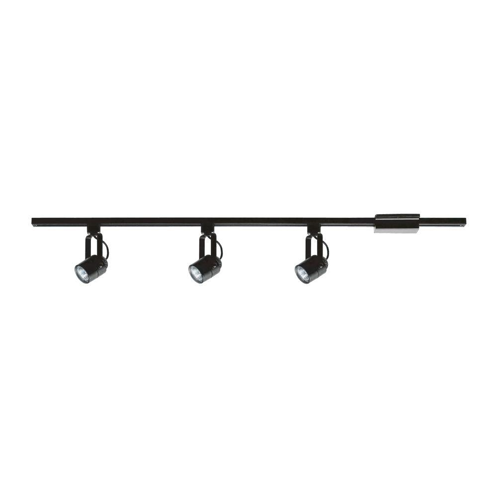 Hampton Bay 3-Light Black Pinhole Cylinder Linear Track Lighting Kit