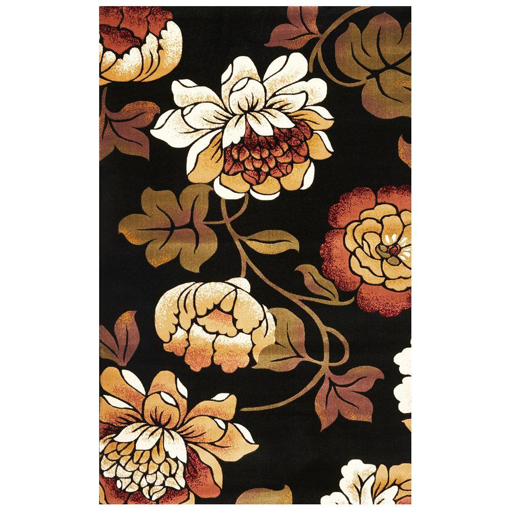 Kas Rugs Black Bella Black 5 ft. x 8 ft. Area Rug Select the Kas Rugs 5 ft. x 8 ft. Area Rug to upgrade your home. This rectangular rug has stain-resistant fabrics and fade-resistant materials. It is designed with black elements, adding a touch of elegance that is easy to match with other decor. It features an oriental motif for an intricately designed statement piece that never goes out of style. This knotted rug has a 100% polypropylene design, making it a lasting option for any living space.