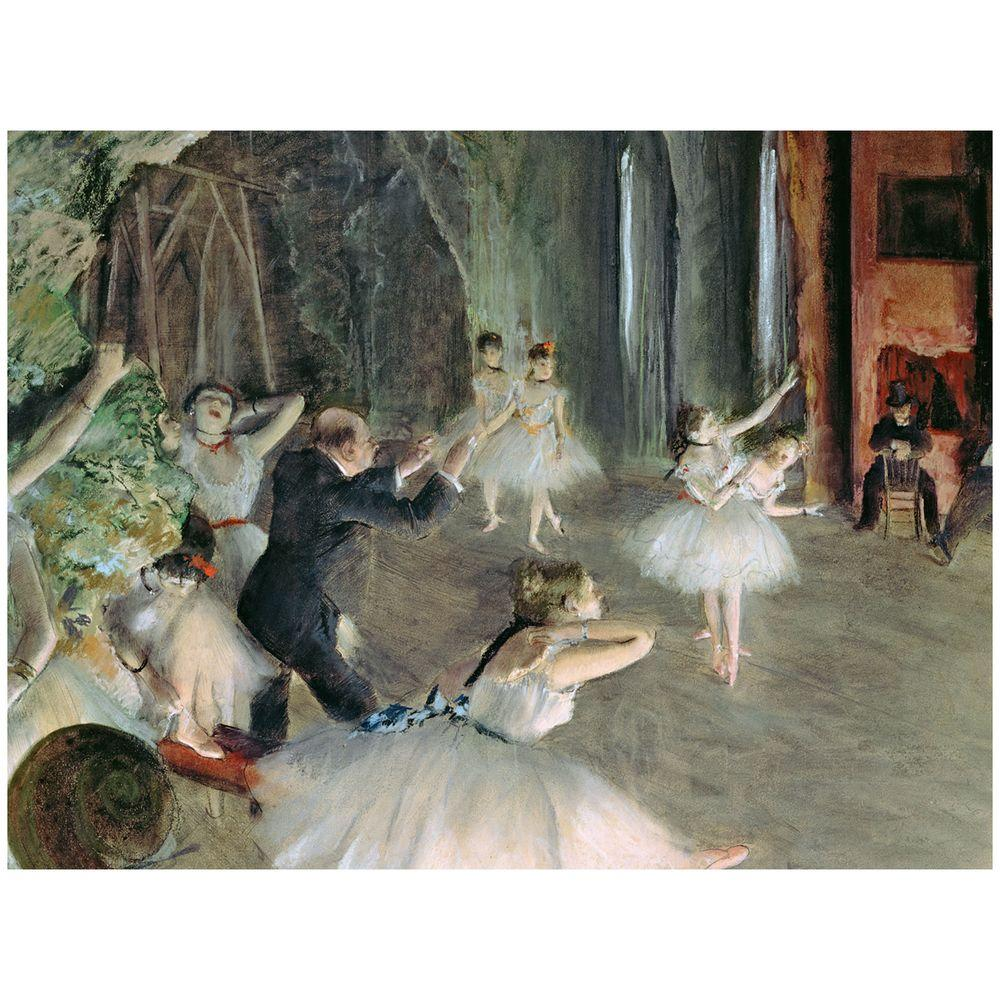 Trademark Fine Art 24 in. x 32 in. The Rehearsal of the Ballet on Stage Canvas Art