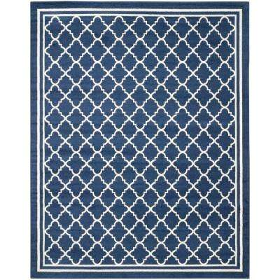 Amherst Navy/Beige 6 ft. x 9 ft. Indoor/Outdoor Area Rug