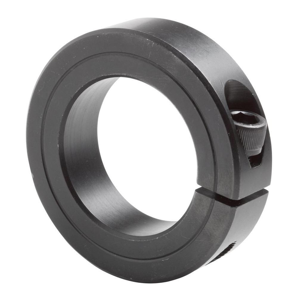 2-3/16 in. Bore Black Oxide Coated Mild Steel Clamp Collar