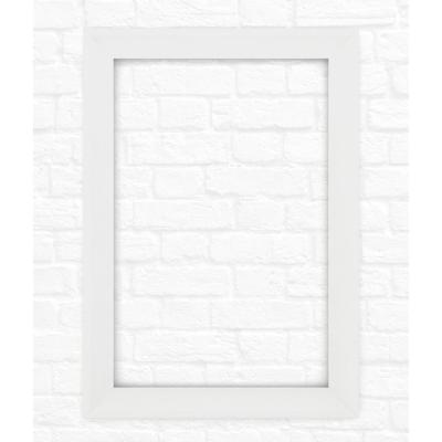 23 in. x 33 in. (S2) Rectangular Mirror Frame in Matte White