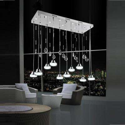 Mariann 42-Watt Chrome Integrated LED Chandelier
