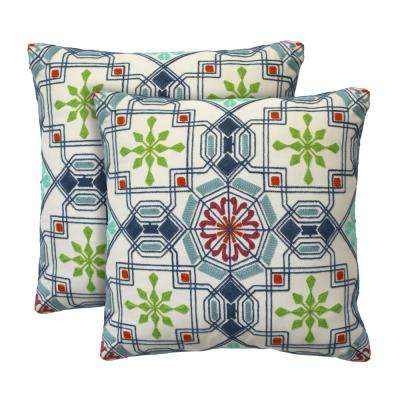 Beckett 18 in. x 18 in. Confetti Decorative Pillow (2-Pack)