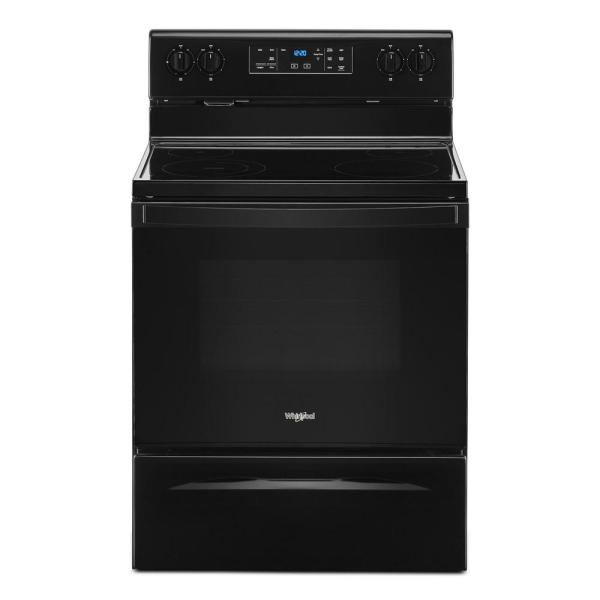 5.3 cu. ft. Electric Range with 4-Elements and Frozen Bake Technology in Black