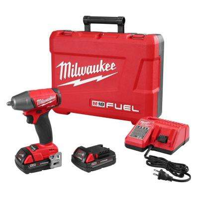 M18 FUEL 18-Volt Cordless Lithium-Ion Brushless 3/8 in. Compact Impact Wrench with Friction Ring Kit