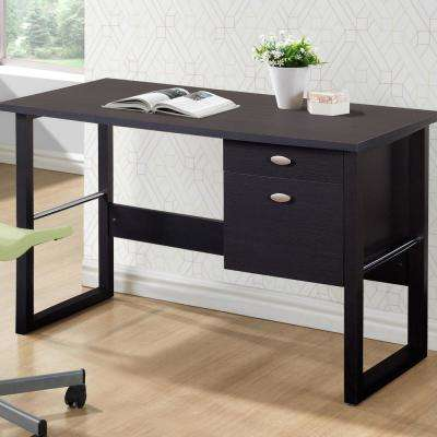 Folio Black Espresso Filing Drawer Desk