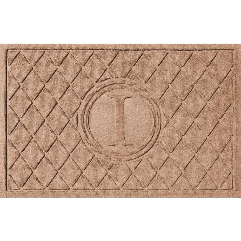 Bungalow Flooring Argyle Medium Brown 24 In. X 36 In. Monogram I Door Mat